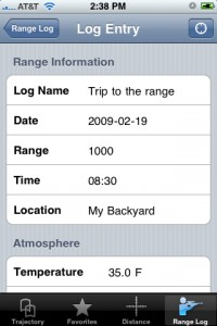 JBM Ballistic iphone ipod ipad app log