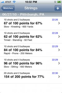 CMP iPhone, iPad, iTouch, marksmanship scoring app