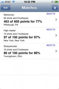 CMP iPhone, iPad, iTouch, marksmanship scoring app