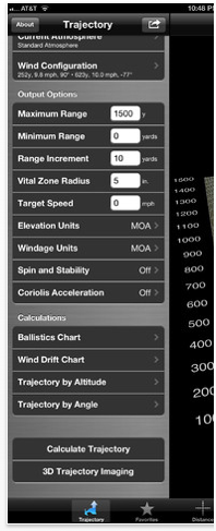 JBM Ballistics Calculator Advanced Edition for the iPad